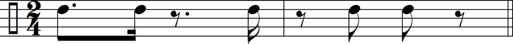Румба клаве в размере 2/4