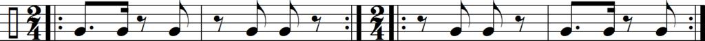 Сон клаве в размере 2/4 в направлениях 3-2 и 2-3