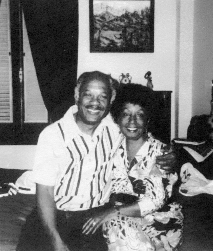 Барабанщик и тимбалеро Guillermo Barreto с женой, певицей Merceditas Valdéz, Гавана, январь 1990. Коллекция Nanvy Berglass