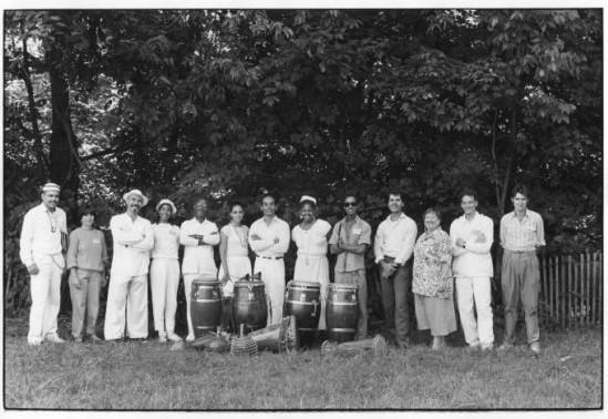 Los Afortunados на Филадельфийском фолк-фесте, август1986 (Мануэль пятый слева) Фото из коллекции Felix Sanabria