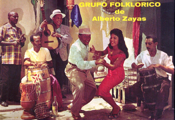 """Фрагмент обложки """"Guaguancó Afro-cubano"""" Panart LP-2055"""